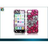 Plastic 3d Glitter Flower Rhinestone Diamond Pearl Hard Case Cover For Iphone 5
