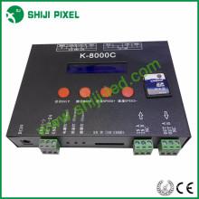 O cartão SD conduziu o controlador rgb K-8000C para a tira conduzida conduziu a luz do pixel