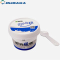 Ice cream pp plastic cup with lid spoon