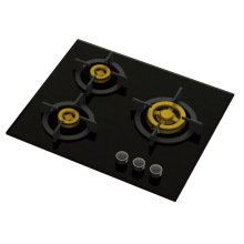 Supreme 3 Brass Burner Gas Stove (8mm Glass)