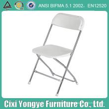 Cadeiras de dobradura plásticas Chored brancas para o partido