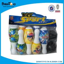 Jouets à boule de bowling plastiques en plastique