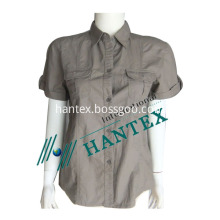 Women`s sleeve short shirts for work