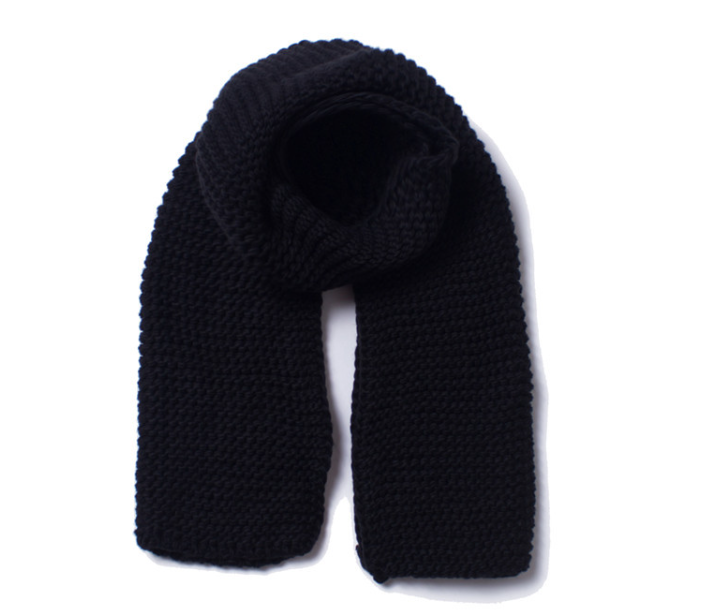 Three Guage Knitting Scarf Black