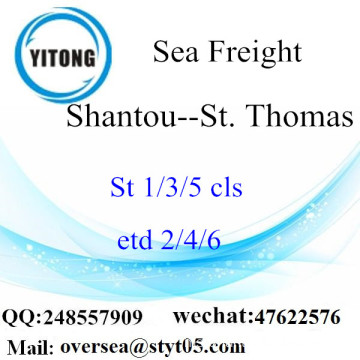 Shantou Port LCL Consolidation To St. Thomas