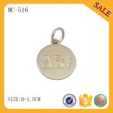 MC516 runde Form benutzerdefinierte Logo Metall Material Schmuck Tag für Armband