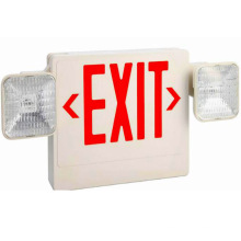 Emergency Combo Light Sign red white all led exit sign