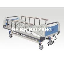 (A-50) - Удобная двухфункциональная ручная больничная койка с головкой из ABS-кровати