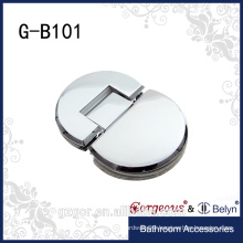 New style semi-circle 180 degree glass-glass hinge for shower door