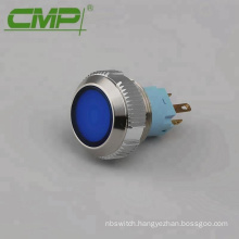 12v Blue Illuminated LED Light Metal Momentary Push Button Switch