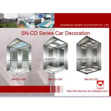 Cabine d'ascenseur avec cadre en acier inoxydable (SN-CD-149)