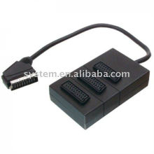 21pin Scart plug to 3 x 21pin Scart jacks box 30cm (dvd.video,dvd-r)