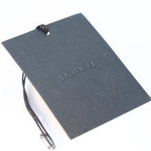 Factory Bulk Produced Clothing Private Brand Logos Craft Paper Labels Printed Tags with String