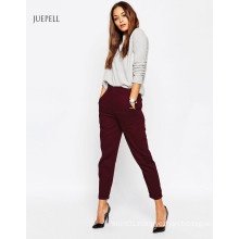Cropped Leg High Waisted Work Peg Pants