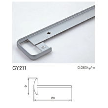 Perfil de perfil de borde de armario de aluminio anodizado