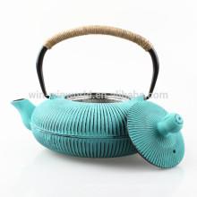Pot chaud de thé de fonte d'infusion d'acier inoxydable de vente chaude avec le revêtement fait sur commande