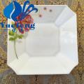 White opal borosilicate glass octagonal plate