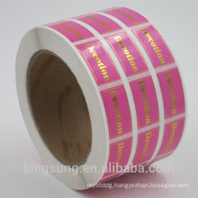premium quality gold/sliver stamp paper sticker for can sealing