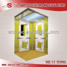 Mirror Etching Machine Roomless Passenger Elevator
