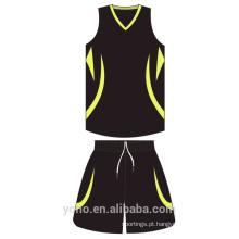 OEM \ ODM Atacado personalizado malha de basquete de basquete respirável Jersey Sublimação Completa Reversível uniforme de Basquete
