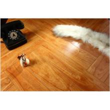 Household 12.3mm Mirror Walnut Sound Absorbing Laminate Flooring