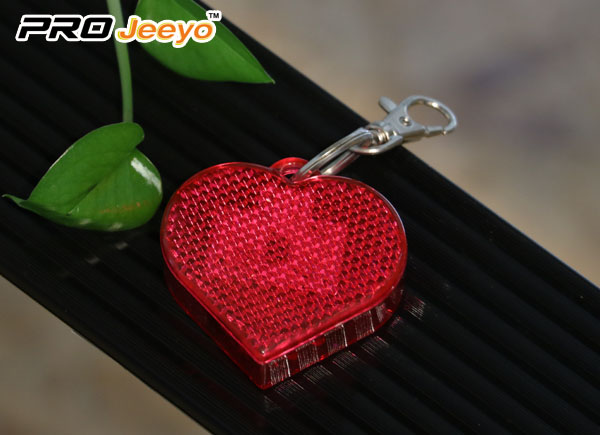 LED Hi Vis Safety Children School Bag Red Keychain RB-501D 1
