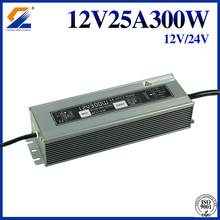 24V 12.5A 300W IP67 kalis air LED SMPS