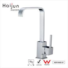 Haijun Favorable Price cUpc Polished Chrome Flexible Single Hole Kitchen Faucet