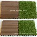 Künstliche Gras Fliesen 30s30-Agt WPC Decking Fliesen Dekoration