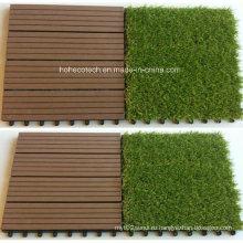 Искусственная трава плитки 30s30-Агт украшения WPC настил плитки