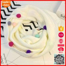 Nuevas bufandas de acrílico 2017 de la manera del invierno del diseño para las muchachas