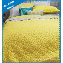 Sunshine Solid Polyester Ultrasonic Coverlet Set