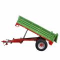 Remolque volquete hidráulico de volteo de eje simple para transporte agrícola