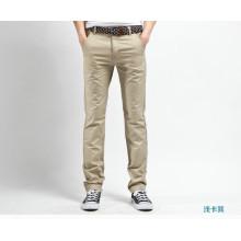 Штаны мужчин брюки высокого качества 100% хлопок моды брюки