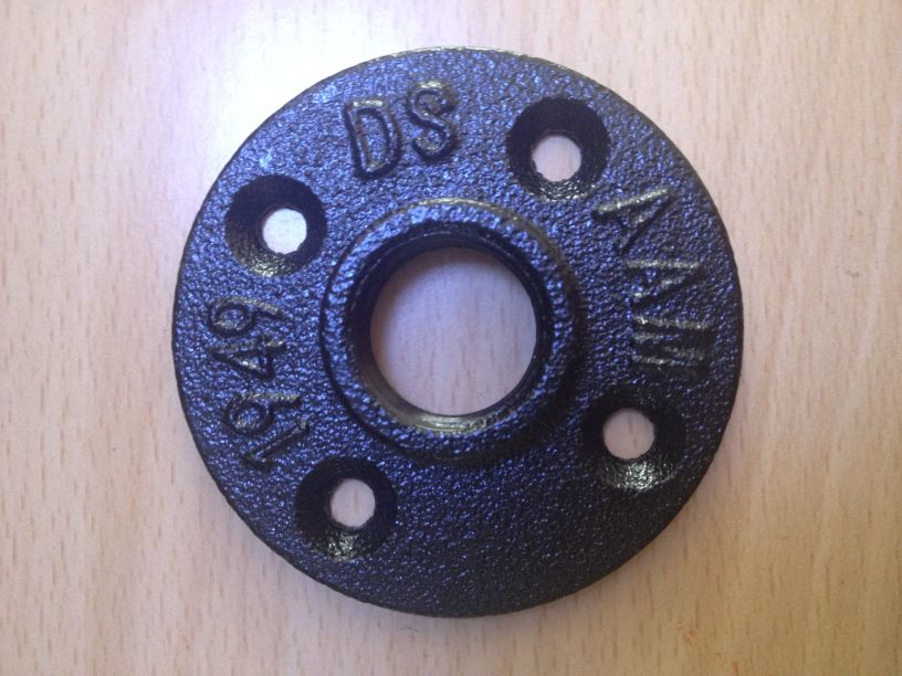black color floor flange