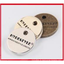 Marca de vestuário de Metal de pendurar produto direto de fábrica personalizada