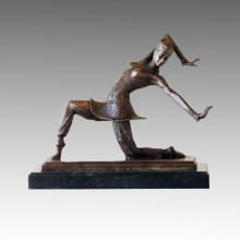 Danseuse Bronze Sculpture Lady Carmona Deco Statue en laiton TPE-177