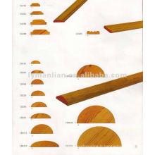 moulures demi-rondes en bois de teck