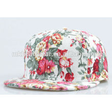 adult beautiful hip hop snapback cap with full printing