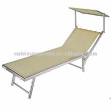 Портативный алюминиевый кровать кемпинг стул пляжа с навесом от солнца