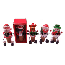 Polyresin Sculpture Christmas Decor 3D Wine Bottle Stopper