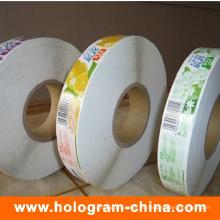 Etiqueta adhesiva de encargo del rollo de la etiqueta engomada de la comida
