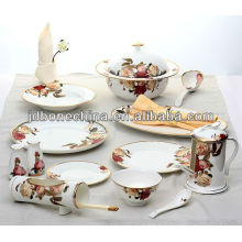 good export A grade royal fine bone china dinning kitchenware set