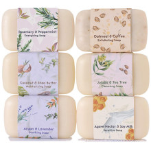 Natural Organic Moisturizing Body Wash Acne Bar Soap Set (6 pieces)