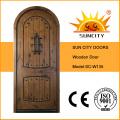 Роскошные Стойка современная деревянная дверь, дверь твердой древесины teak конструкции (СК-W135)