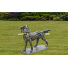 Life Size Bronze Dog Animal Statue