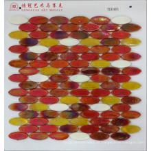Elipse de mosaico de vidro de derretimento quente
