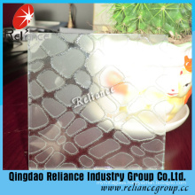 Clear Decorative Glass/Designed Glass for Building Glass