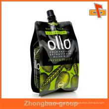 Hochwertige Lebensmittelqualität Lecksicheres klares Getränk Stand up Tülle Beutel für Babynahrung / Jelly Verpackung