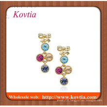 HIGH fashion colored crystal gemstone fingernail earring posts for girls